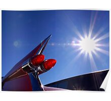 Red Cadillac Fin and Solar Flare Poster