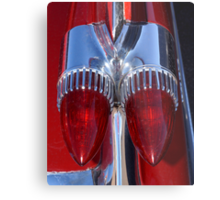 Red Cadillac Tail Lights Metal Print