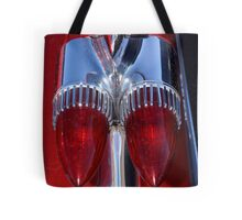 Red Cadillac Tail Lights Tote Bag