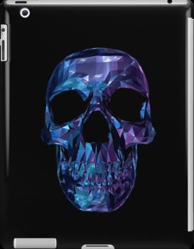 Polygon Skull - Blue / Purple by Matthew Reilly