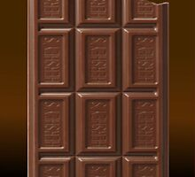 Chocolate Bar iPhone Case by TheTubbyLife