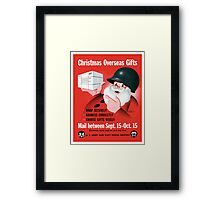 Santa Claus - Christmas Overseas Gifts  Framed Print
