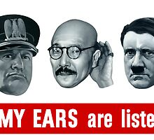 Enemy Ears Are Listening -- WWII by warishellstore
