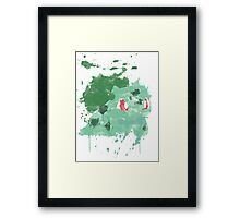 Graffiti Bulbasaur Framed Print