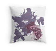 Graffiti Haunter Throw Pillow