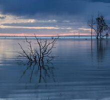Blue Lake Menindee by Chris Brunton