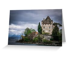 Yvoire Medieval Castle, France Greeting Card