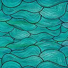 Sea Waves Pattern by Pom Graphic Design