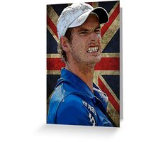 Andy Murray British Flag Greeting Card