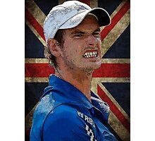 Andy Murray British Flag Photographic Print