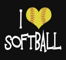 I Love Softball by shakeoutfitters