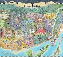 Map of Toronto 2013 Might and Magic Style by catshrine