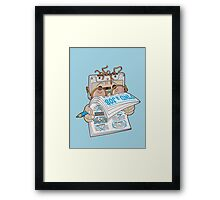 find a job Framed Print