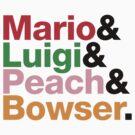 Mario.Luigi.Peach.Bowser. by CallMeMatt