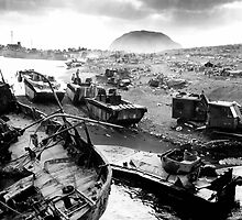 Iwo Jima Beach Painting  by warishellstore