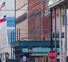 The Historic Strand Street, Galveston island by Angel Ward