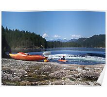 Canoeing on the Sunshine Coast BC Poster