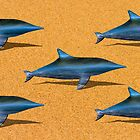 DOLPHINS ON THE SAND by JASPERIMAGE