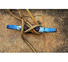 Waiting - Boat Tie Cleat By Sharon Cummings Photographic Print