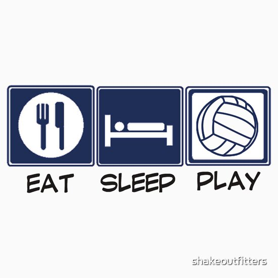 quoteat sleep play volleyballquot tshirts amp hoodies by