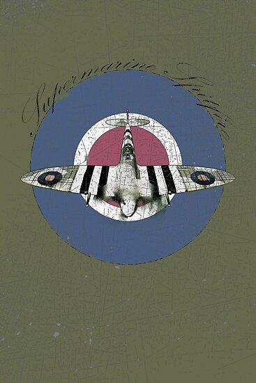 Vintage Look Fighter Plane Supermarine Spitfire by VintageSpirit