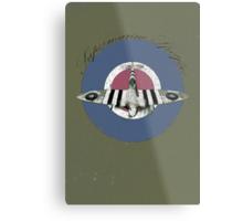 Vintage Look Fighter Plane Supermarine Spitfire Metal Print