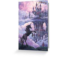 Unicorn Castle Greeting Card