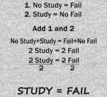 Study = Fail (Algebraic Equation) by Marjuned
