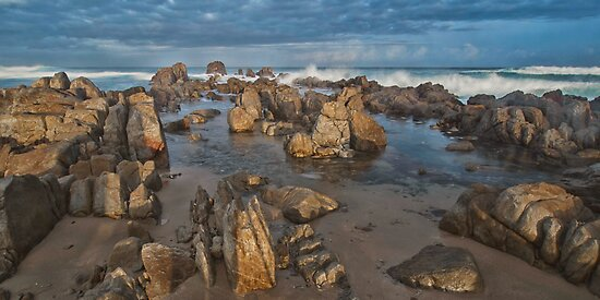 Rugged Rock at Sundown by Warren. A. Williams
