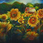 Sun Flower Field. by Heather Schuer