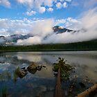 Pyramid Lake Reflection by Luann wilslef