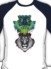 Tigers And Lions In Colour T-Shirt