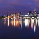 Docklands Twilight, Melbourne, Victoria, Australia by Michael Boniwell