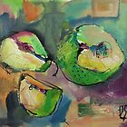 Pared Pears #2 by Joanie Springer