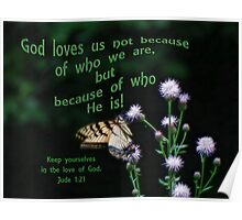 Love of God-Jude 1:21 Poster