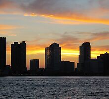Jersey Sunset by joan warburton
