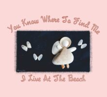 Beach Angel ~ Shells on Sandy Canvas  by SummerJade