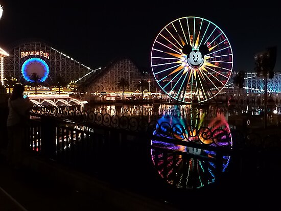 Disneyland at Night by FangFeatures