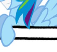 Rainbow Dash Pocket Sticker