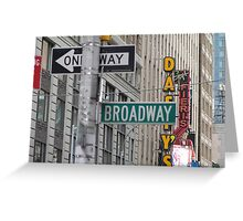 New York Street Signs Greeting Card