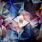 Textured Triangle Abstract by Phil Perkins