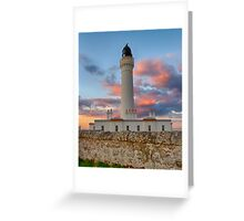 LOSSIEMOUTH - COVESEA SUNSET CLOUDS Greeting Card