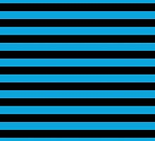 Artistic Abstract Retro Stripes Lines Blue Black by sitnica