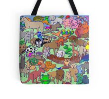 World Wildlife - Coloured Tote Bag
