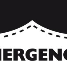 Cut Out Emegency Mustache Sticker
