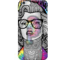 Tie Die Hipster Monroe iPhone Case/Skin
