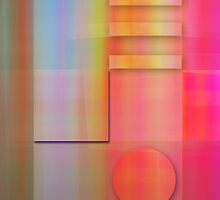 Pastels Geometric Abstract wallart by walstraasart
