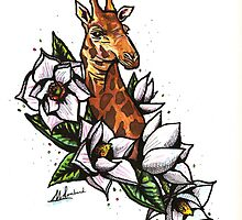 Giraffe Tattoo by Molly Lombard