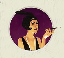 Vintage flapper girl by Dmitry Narozhny