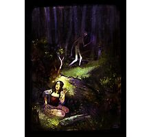 Dear in deep forest Photographic Print